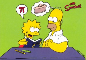 Homer contemplates pi